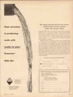 Armour Chemical Company 1954 Vintage Ad Stop Corrosion Wells Duomeen