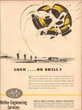 Arthur G McKee Company 1954 Vintage Ad Luck Skill Engineering Services
