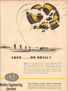 Arthur G McKee Company 1954 Vintage Ad Luck Skill Engineering Services