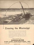 Associated Pipe Line Contractors 1954 Vintage Ad Crossing Mississippi