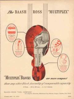 baash-ross tool company 1954 multiplex blocks more compact vintage ad