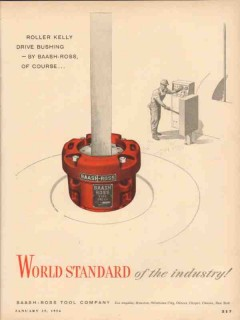 Baash-Ross Tool Company 1954 Vintage Ad Oil World Standard Industry