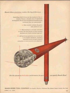 Baash-Ross Tool Company 1954 Vintage Ad Oil Precision Big Difference