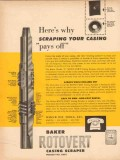Baker Oil Tools Inc 1954 Vintage Ad Why Scraping Your Casing Pays Off
