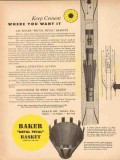 Baker Oil Tools Inc 1954 Vintage Ad Keep Cement Metal Petal Baskets