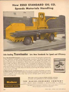 baker-rauling company 1954 how esso speed material handling vintage ad