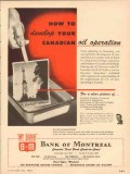 bank of montreal 1954 how to develop canadian oil operation vintage ad