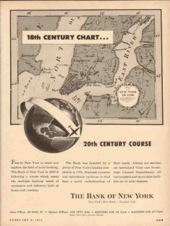 bank of new york 1954 20th century course trust investments vintage ad