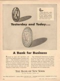 bank of new york 1954 yesterday today bank for oil business vintage ad
