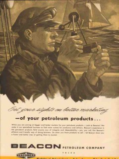 Beacon Petroleum Company 1954 Vintage Ad Oil Set Sights Marketing