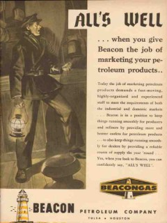 Beacon Petroleum Company 1954 Vintage Ad Alls Well Marketing Products