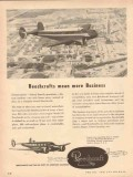 beech aircraft corp 1954 beechcrafts mean more business vintage ad
