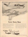 beech aircraft corp 1954 cover every base beechcraft vintage ad