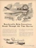 beech aircraft corp 1954 beechcrafts help executives time vintage ad