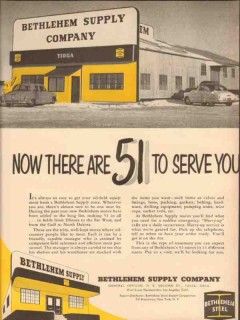 Bethlehem Supply Company 1954 Vintage Ad Oil Now 51 Stores Serve You