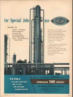 Birmingham Tank Company 1954 Vintage Ad Special Jobs Ingalls Birtank
