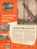 Black Sivalls Bryson Inc 1954 Vintage Ad Oil Custom Fabricate Process