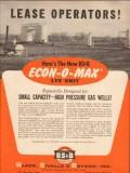 Black Sivalls Bryson Inc 1954 Vintage Ad Oil Lease Operator Econ-O-Max