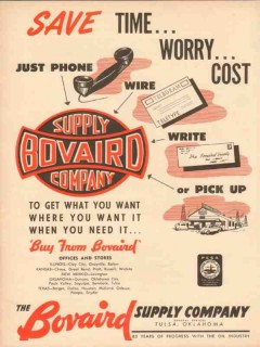 Bovaird Supply Company 1954 Vintage Ad Oil Gas Save Time Worry Cost