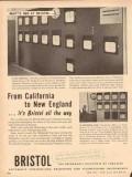 bristol company 1954 california new england control panel vintage ad