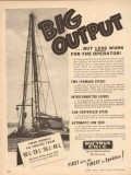 Bucyrus-Erie Company 1954 Vintage Ad Oil Field Big Output Less Work