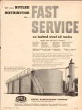 butler mfg company 1954 fast service steel tanks vintage ad
