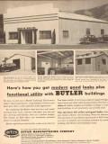 Butler Mfg Company 1954 Vintage Ad Oil Field Building Modern Good Look