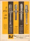 Byron Jackson Company 1954 Vintage Ad Oil Pumps Go Vertical Save Space