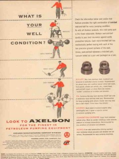 Axelson Mfg Company 1954 Vintage Ad Oil What Is Your Well Condition
