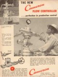 Cameron Iron Works 1954 Vintage Ad Oil Perfection Production Control