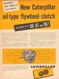 caterpillar tractor company 1954 oil-type flywheel clutch vintage ad