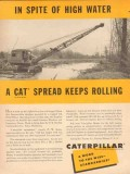 caterpillar tractor company 1954 high water cat spread vintage ad