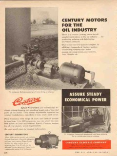 century electric company 1954 motors for the oil industry vintage ad