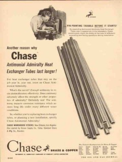 chase brass copper company 1954 heat exchanger tubes vintage ad