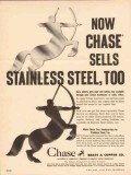 chase brass copper company 1954 sells stainless steel vintage ad