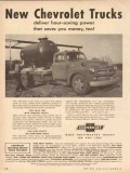 Chevrolet 1954 Vintage Ad New Chevy Trucks Deliver Power Saves Money