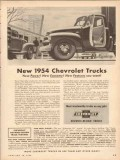 chevrolet 1954 new trucks power economy features you want vintage ad