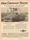 Chevrolet 1954 Vintage Ad New Chevy Trucks Work Hauling Delivery Job