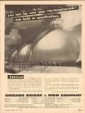 Chicago Bridge Iron Company 1954 Vintage Ad Oil Hortonspheroids Built