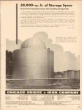 Chicago Bridge Iron Company 1954 Vintage Ad Oil Prevent Evaporation