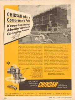 Chiksan Company 1954 Vintage Ad Oil Takes Compressors Pulse Vibration