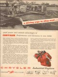 chrysler corp 1954 quad power unit extends advantages oil vintage ad