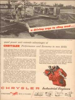 chrysler corp 1954 quad power unit extends advantages oil vintage ad