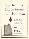 city national bank 1954 serving oil industry from houston vintage ad