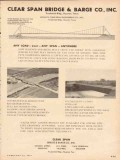 Clear Span Bridge Barge Company 1954 Vintage Ad Oil Any Load Span
