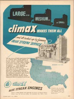 climax engine pump mfg company 1954 large small vintage ad