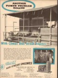 Climax Engine Pump Mfg Company 1954 Vintage Ad Oil Power Problem