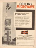 collins radio company 1954 engineering excellence microwave vintage ad