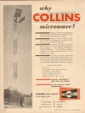 collins radio company 1954 why microwave communications vintage ad