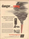 Consolidated Engineering Corp 1954 Vintage Ad Danger Smog Pollution